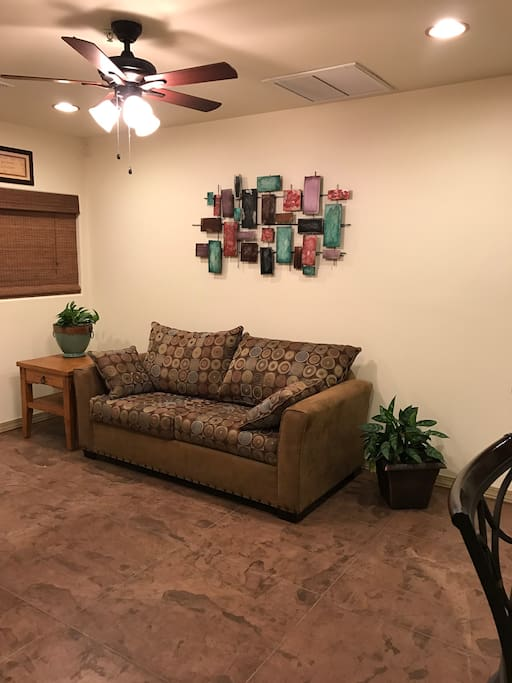 Living Room with pull out love seat