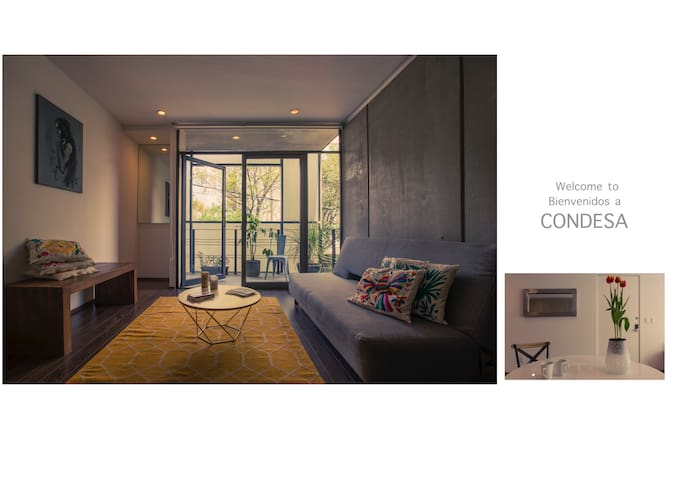 Great apartment in Condesa + Pool + Parking