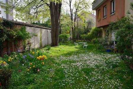 2 pièces avec patio et jardin arboré - Montreuil