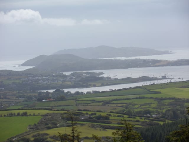 View of Cape Clear, Sherkin and Baltimore from the top of Lough Hyne.