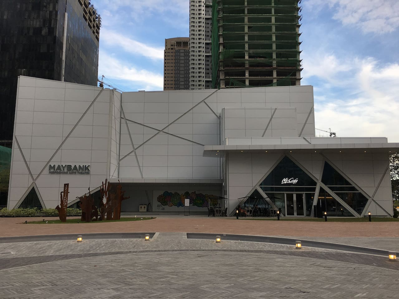 you can watch at this Maybank Performing Arts and Theater by walking across the building