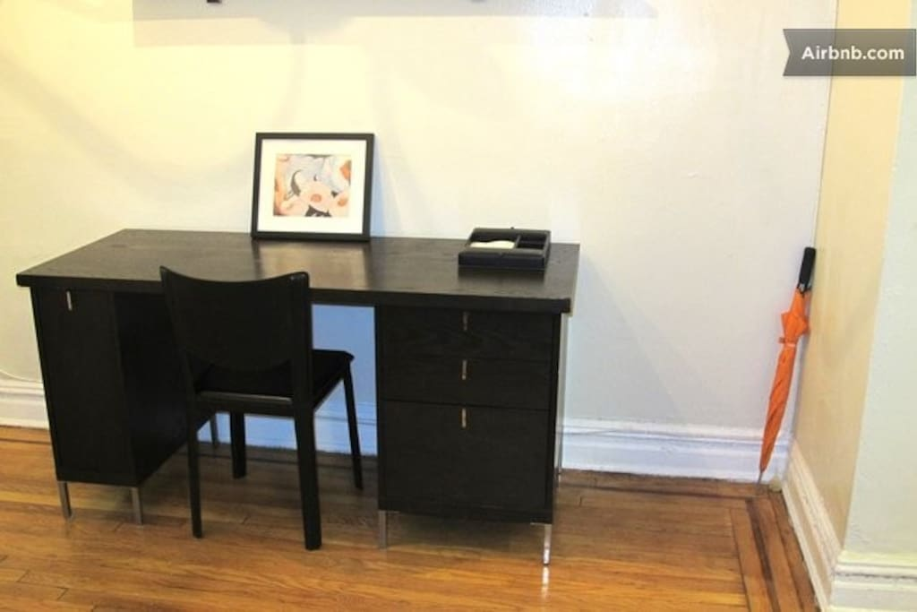 Computer Desk with house phone available for guests to utilize. Make Free Domestic calls anywhere in the USA.