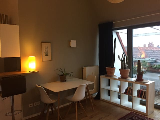 Rooftop Loft Studio with a Private Terrace