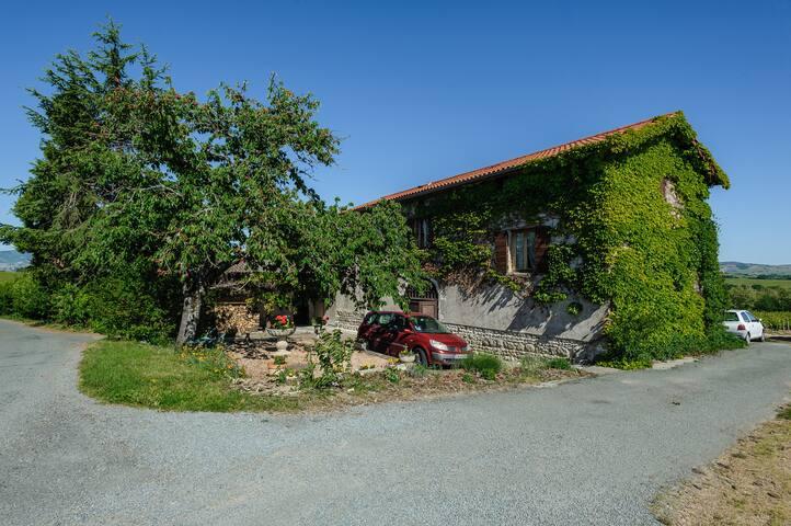 La maison de vigneronnage côté chemin de Bel air