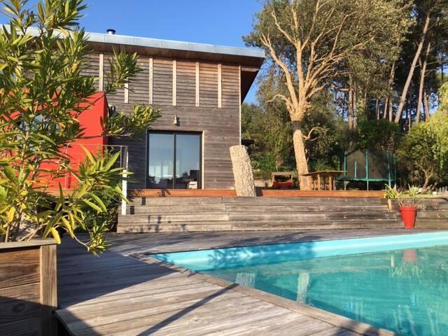 Maison bois architecte Sud landes
