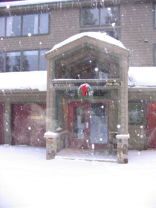 Front Entrance of Condo during Winter