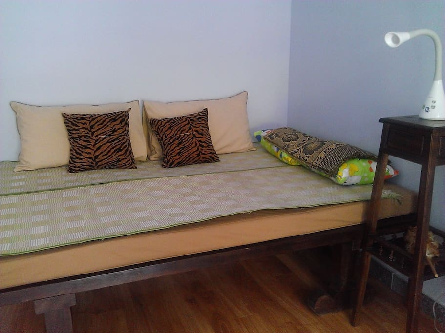 Nice ancient wooden bed