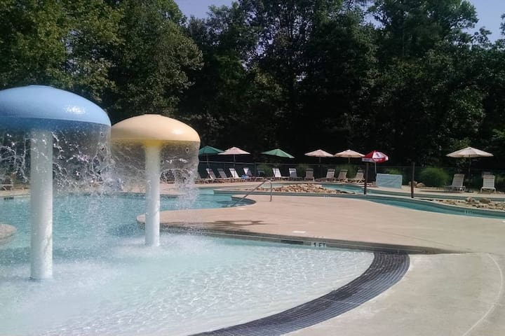 Resort's outside pool complex