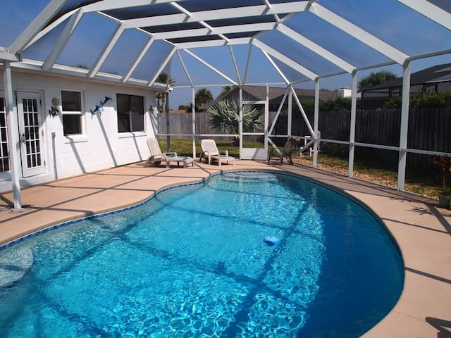 4 bedroom Pool Home on secluded beach side - Ormond Beach - Huis