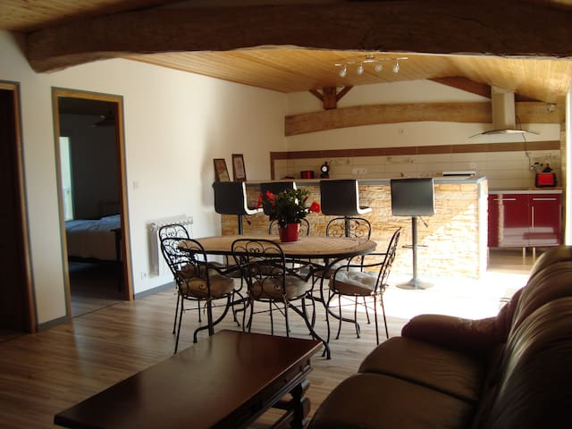 Appartement neuf au dessus piscine/15mn des plages - QUEYRAC - Huoneisto