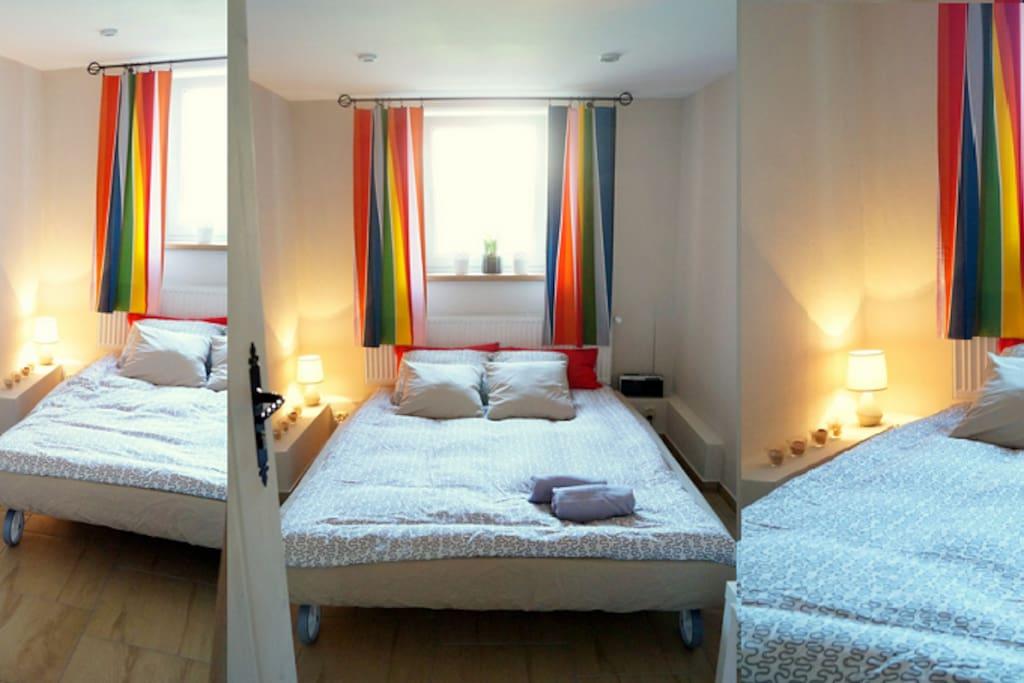 Główna sypialnia - sofa rozkładana (160x205cm)