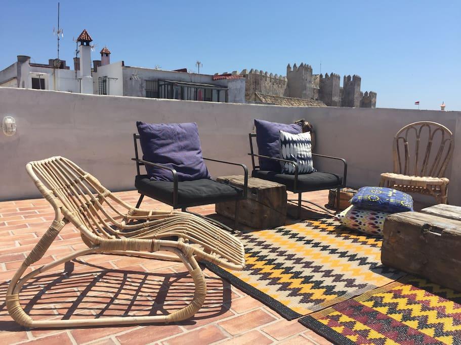 Terrace lounge area