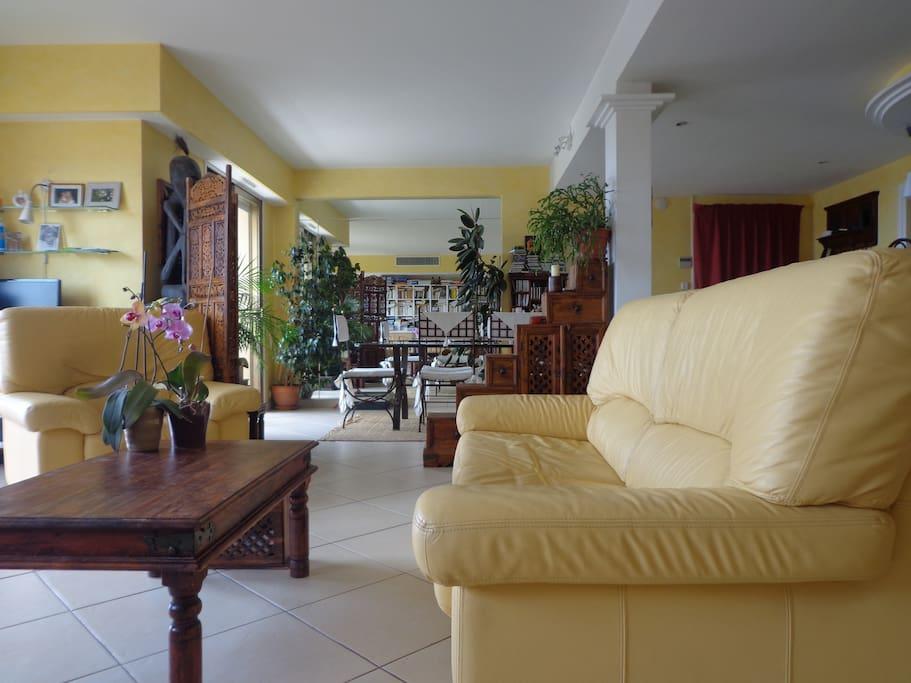 Le salon, 55 mètres carrés