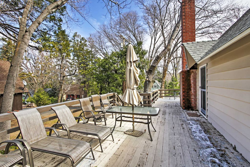 Spend quality time outdoors on the wraparound deck.
