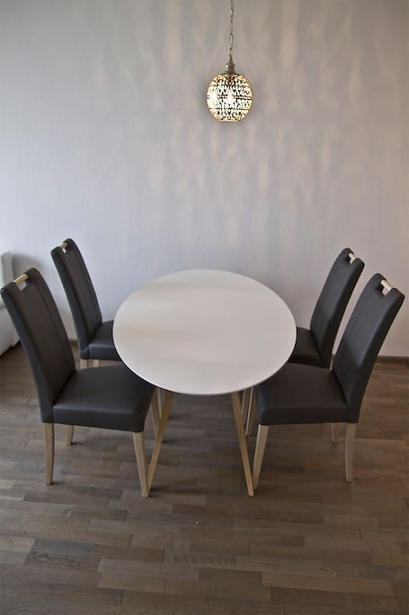 Table in living room/kitchen