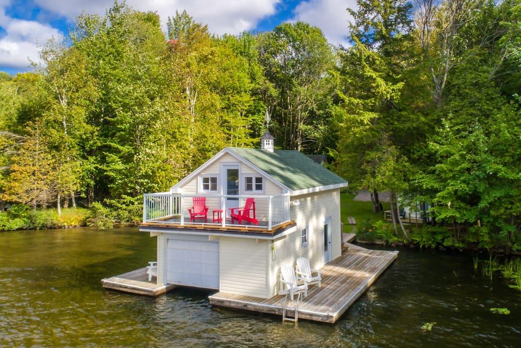 Adorable boathouse