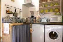 Kitchen - peasant style but with all mod cons!