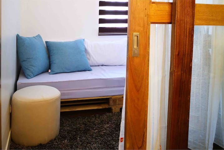 2nd Bedroom : Daybed + extra floor mattress for 4pax accomodation.   A/C is only available if booked for 4pax.