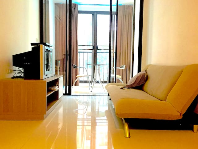 Swimming pool, gym, 1BR, near BTS& 7-11, Bangkok - Bangkok - Appartement