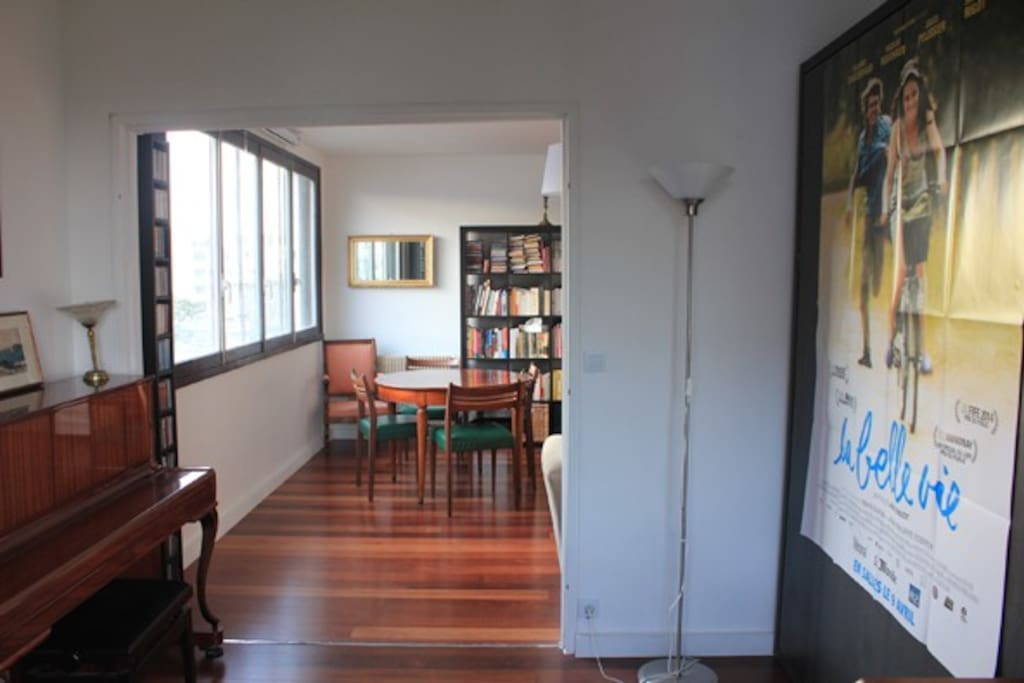 Music room and desk with murphy bed