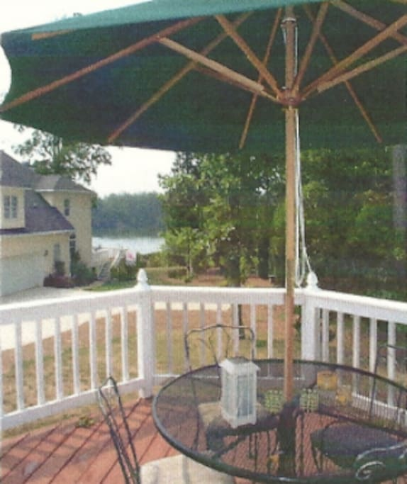 Lakeview from deck except in summer when foliage gets in way