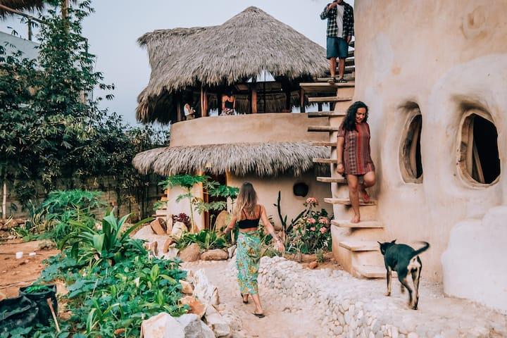 Barbarenas - Eco villa in La Punta Zicatela