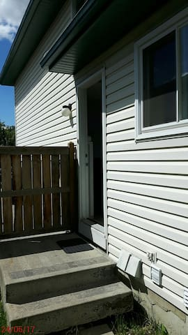 Side door with own private entrance.