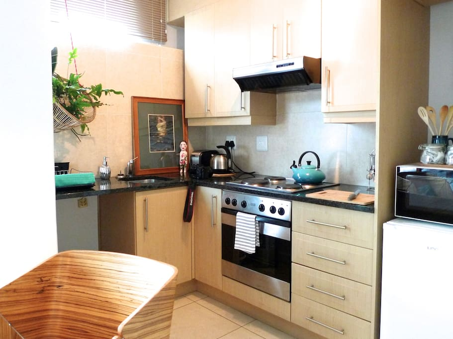 fully kitted out kitchen for self catering