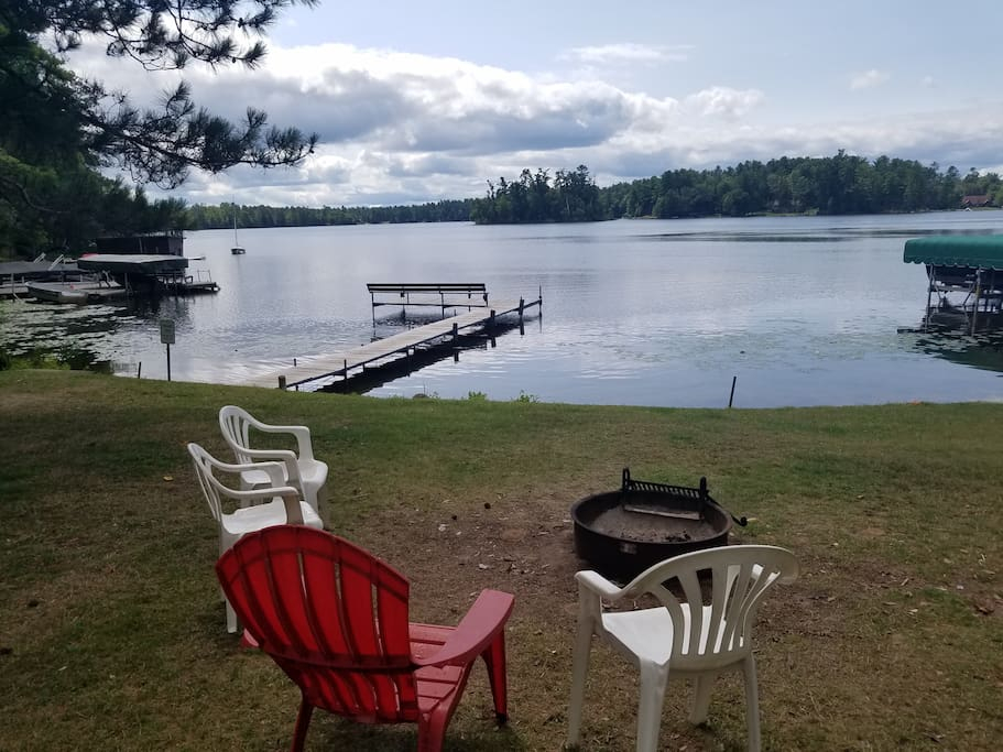 View of Mercer Lake while making those s'mores