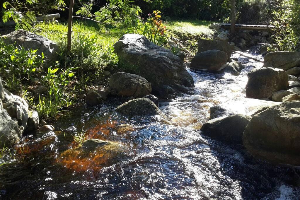 A river really does run through it - through the garden