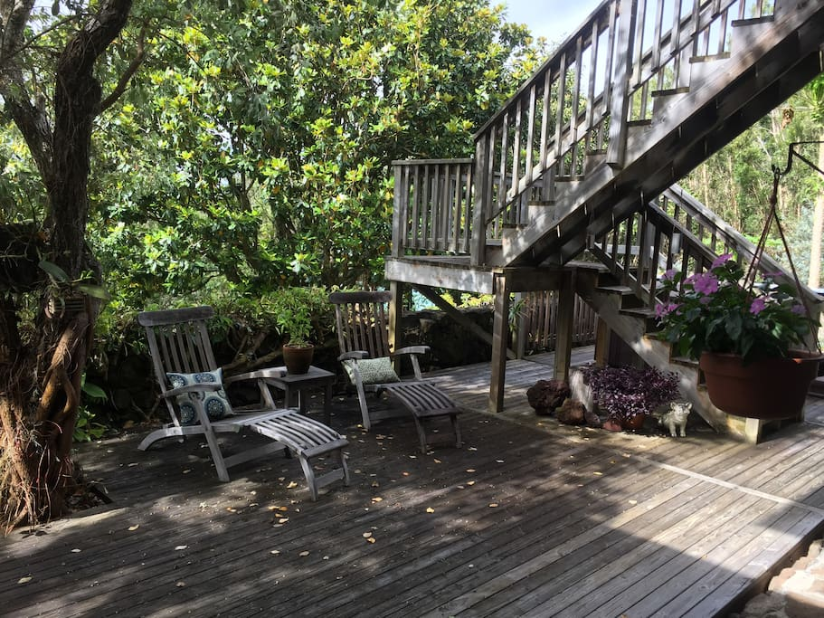Deck to relax on!