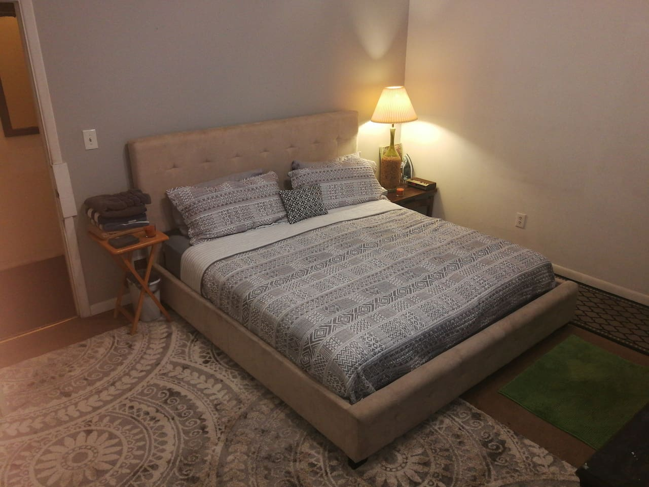 """""""Your bedroom"""" has an AC unit. ( No central AC), but its the 2nd floor apartment in between 2 units with central AC in an historical brick building, so it generally stays pretty cool throught the apartment."""
