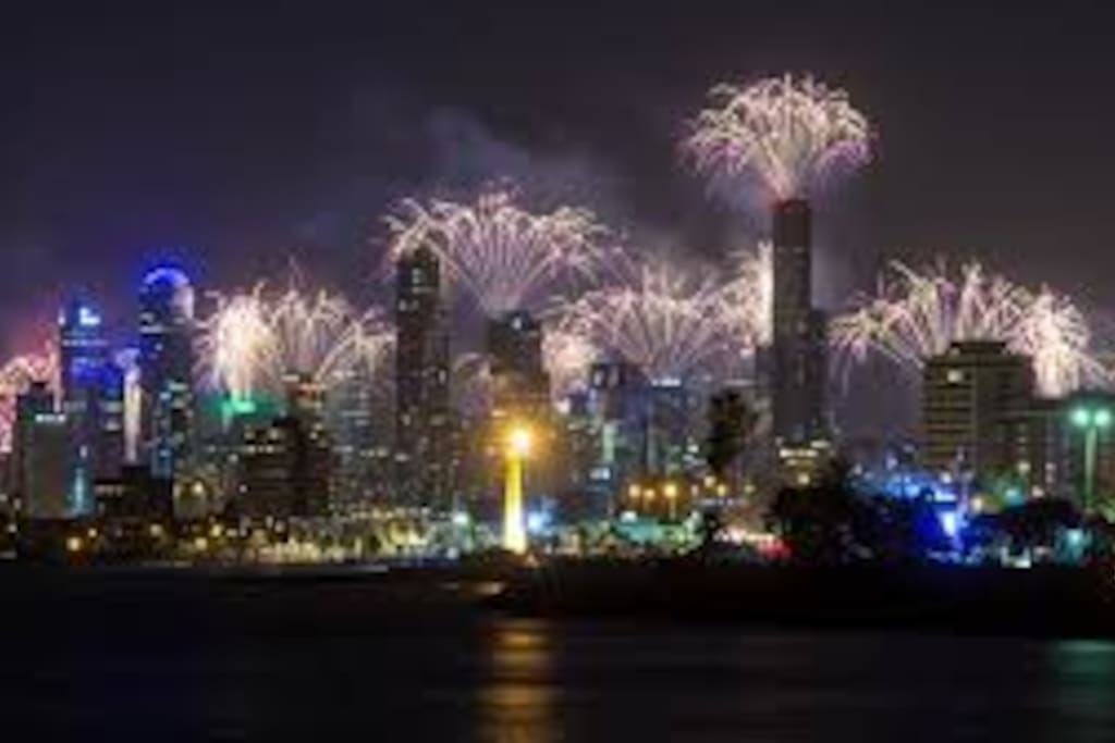 The most spectacular views of the fireworks