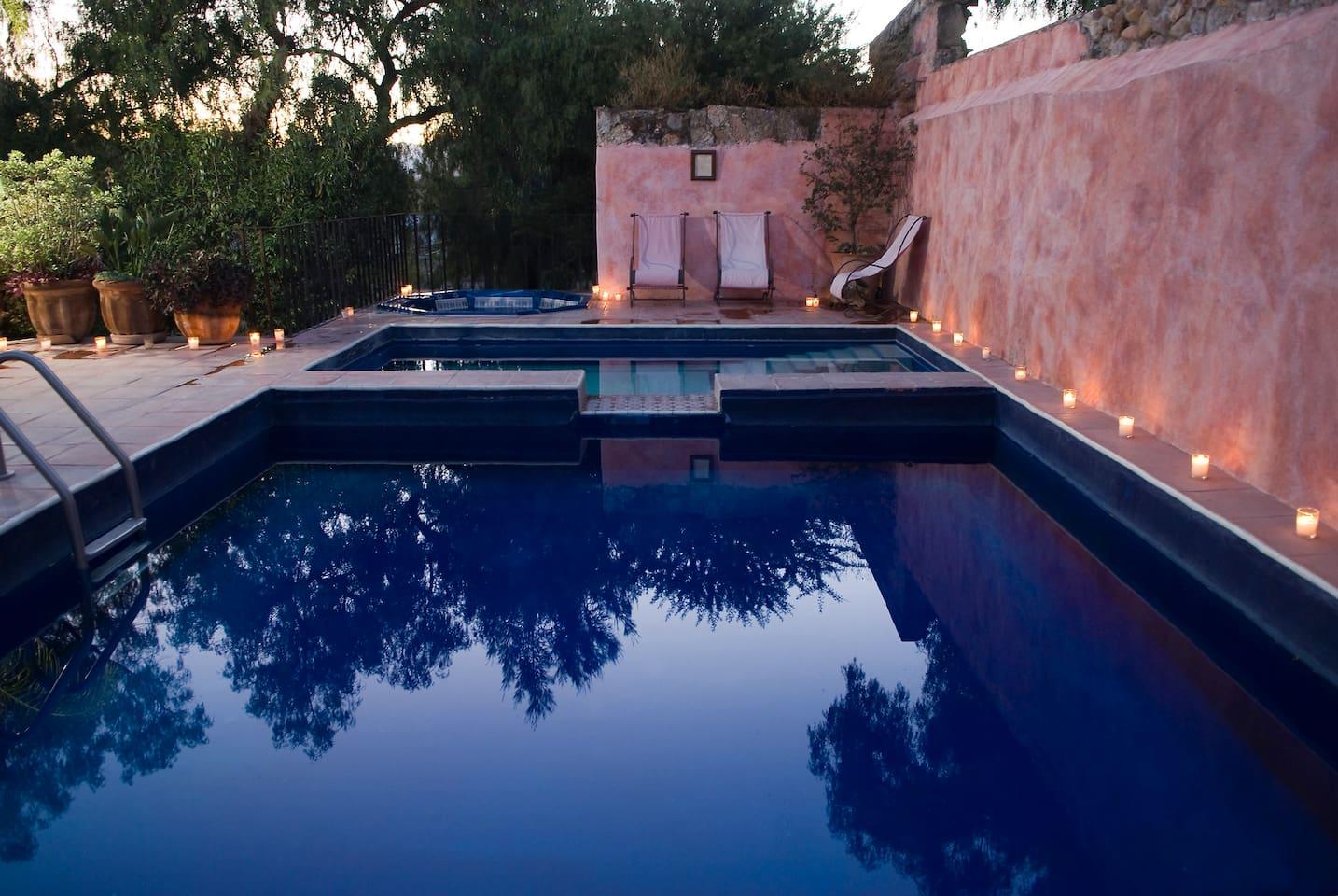 Hacienda Las Trancas Private Pool and Jacuzzi.