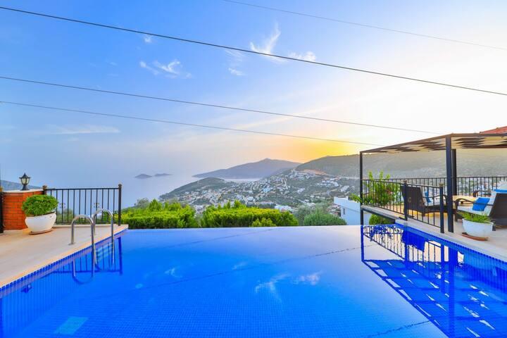 Antalya-kalkan'da kiralık lüks, villa Kızıltaş