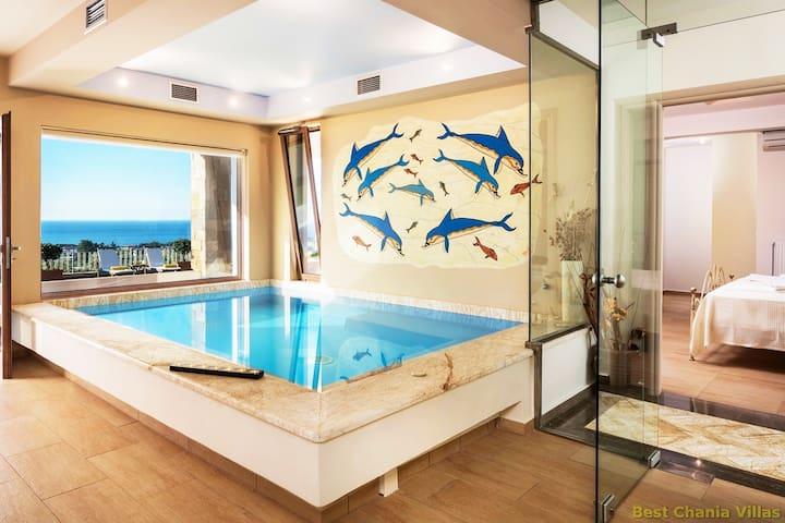 Lux Villa★Private Pool★IndoorJacuzzi★BBQ★Sea View