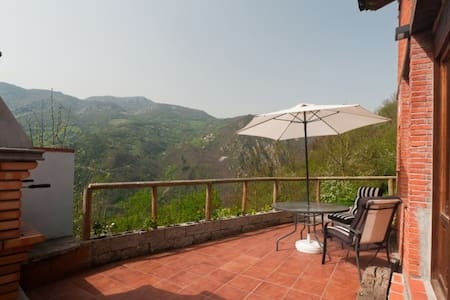 Jacuzzi, vistas,chimenea y barbacoa - Proaza - Lakás
