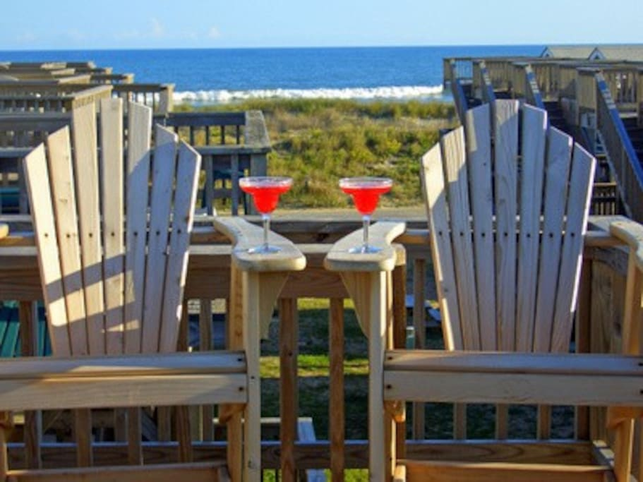 Oceanfront cabana perfect for 2 cabins for rent in for Hatteras cabins rentals