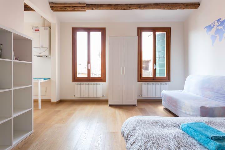 Rialto: studio/loft, breathtaking terrace and view - Venezia - Loft