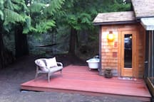 And a SAUNA??! You can use the Sauna any time if you just talk with the hosts:)