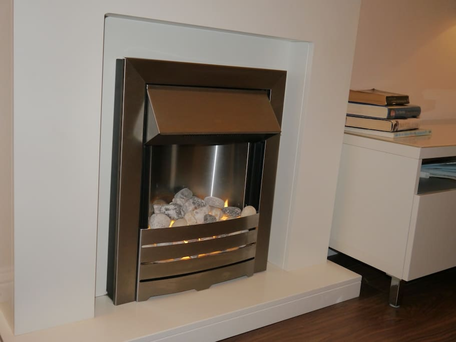 Full gas central heating with optional extra electric fire