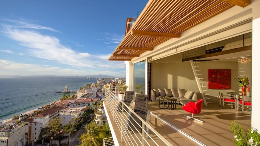 New Penthouse 1BR/2BA + Loft - Puerto Vallarta - Appartement