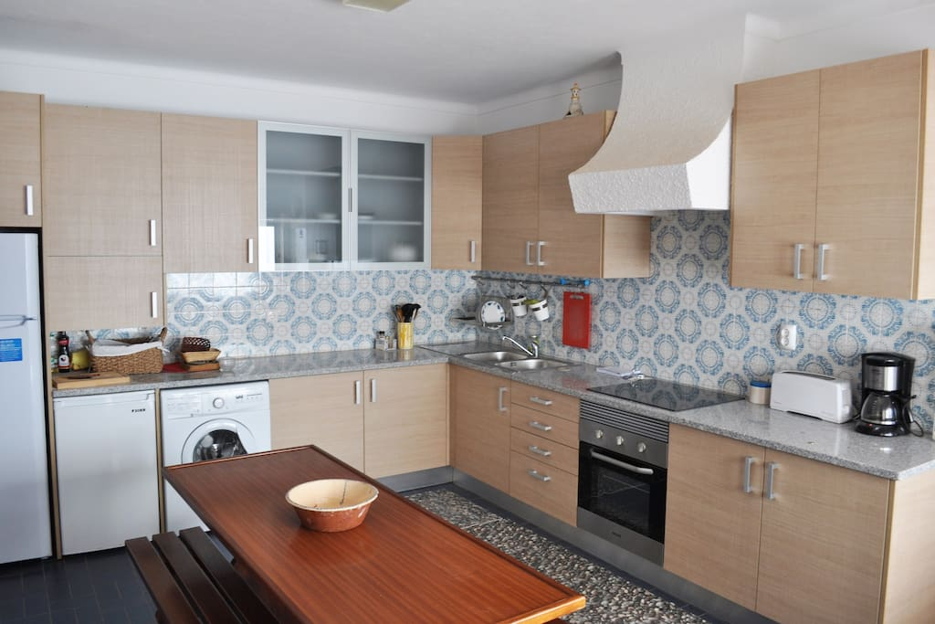Big Kitchen with dining table.