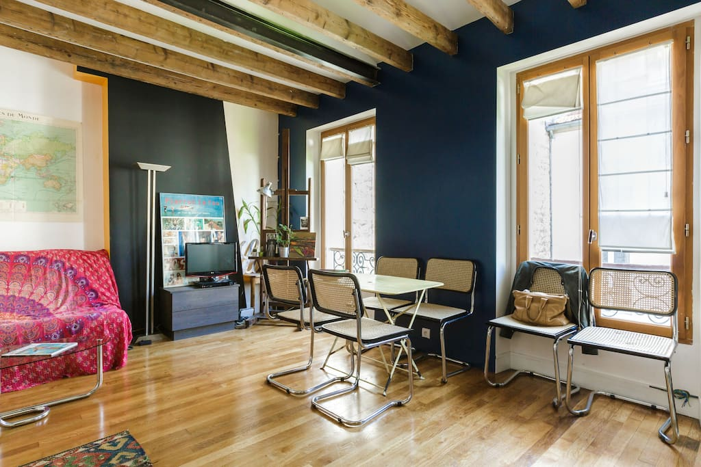 Parisian duplex loft loft in affitto a parigi le de for In legge suite in affitto