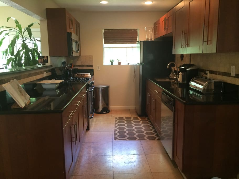 Adorable kitchen!  Guests are welcome to it!