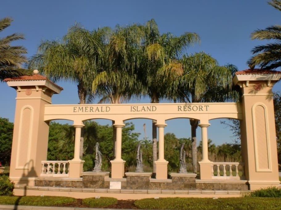 Emerald Island Entrance