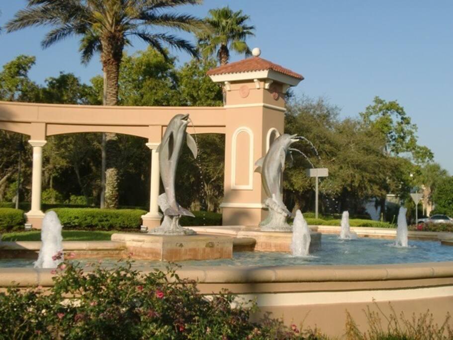 Emerald Island Dolphin Fountain