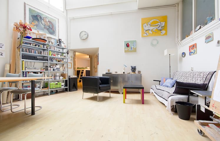Fantastic artist`s studio in the heart of the city - Amsterdam - Apartment
