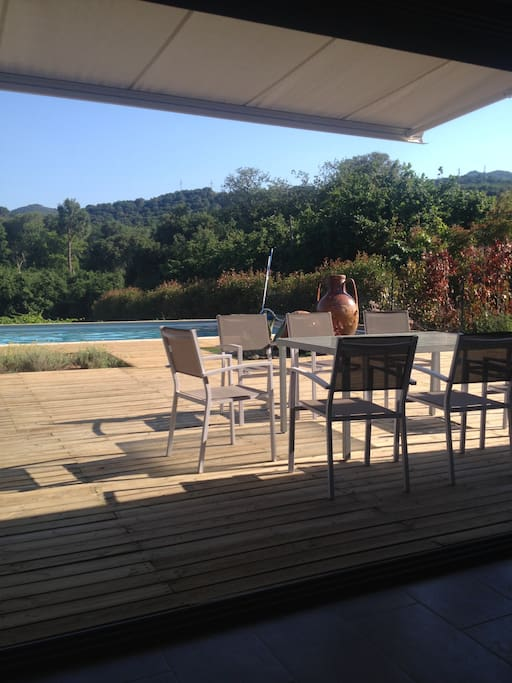 vue sur la terrasse