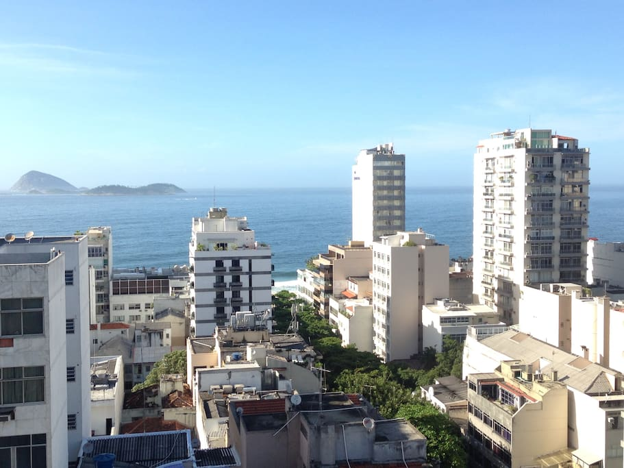 Ipanema Beach apartment view